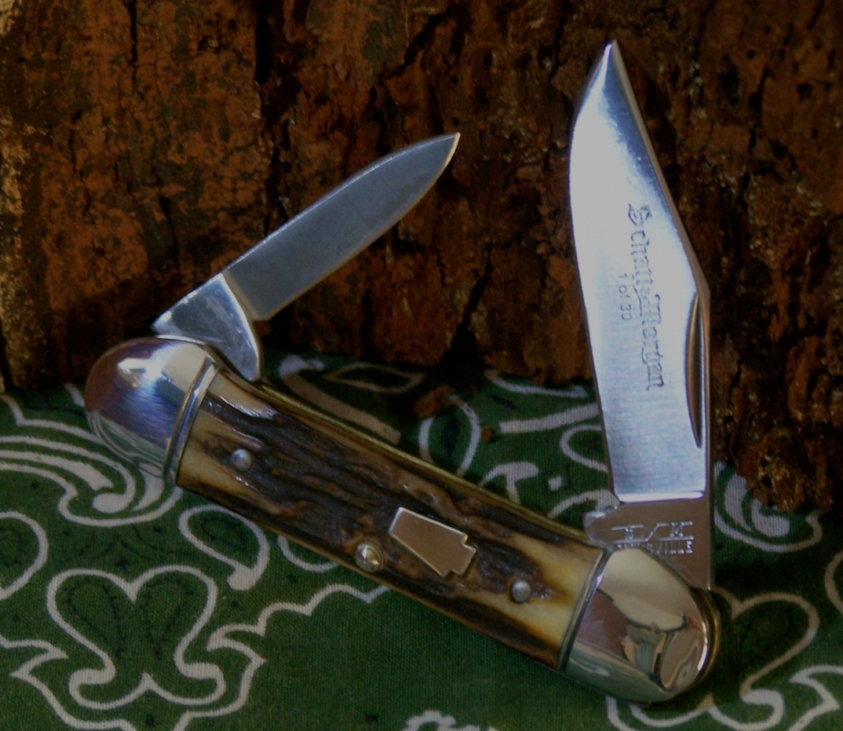 Stag S&M Canoe With Clip Point Master Blade