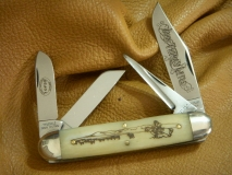 GEC #531410 Cattle Baron Smooth Engraved Bone