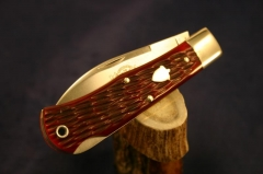 Ruby Red Jigged Bone #720111 Lockback
